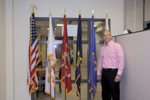 NECC Veterans Services director Jeff Williams is available to nearly 200 service connected students.