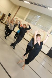 NECC's Modern Dance class prepares for the holiday performance to be performed December 9 and 10 at Pentucket Regional High School in West Newbury.