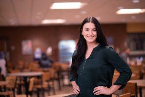 Catherine Greene in the NECC student center