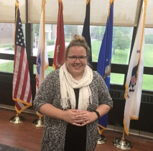 Kalyn Ryll in the Veterans Center.