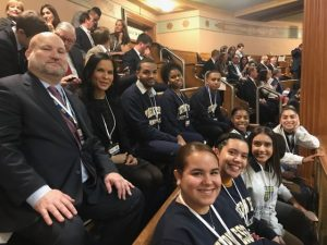 NECC Early College students sit in the State House visitors' gallery.