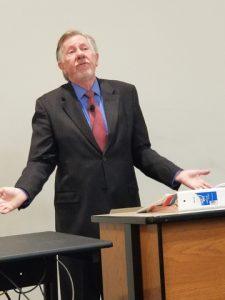 Westy Egmont at the podium