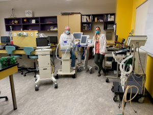 respiratory care faculty with ventilators