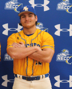 Knights baseball player Mike Stellato in uniform