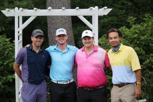 Golf team of four men.