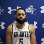 Cristian Kinsley in basketball uniform looking straight at camera