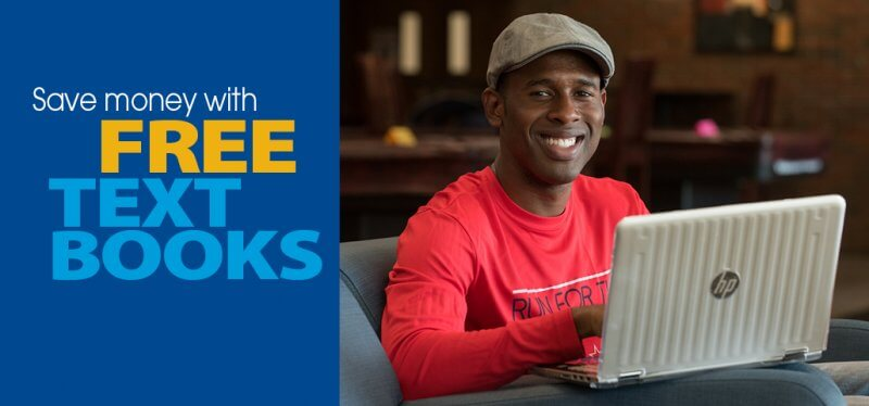 Save money with free textbooks.