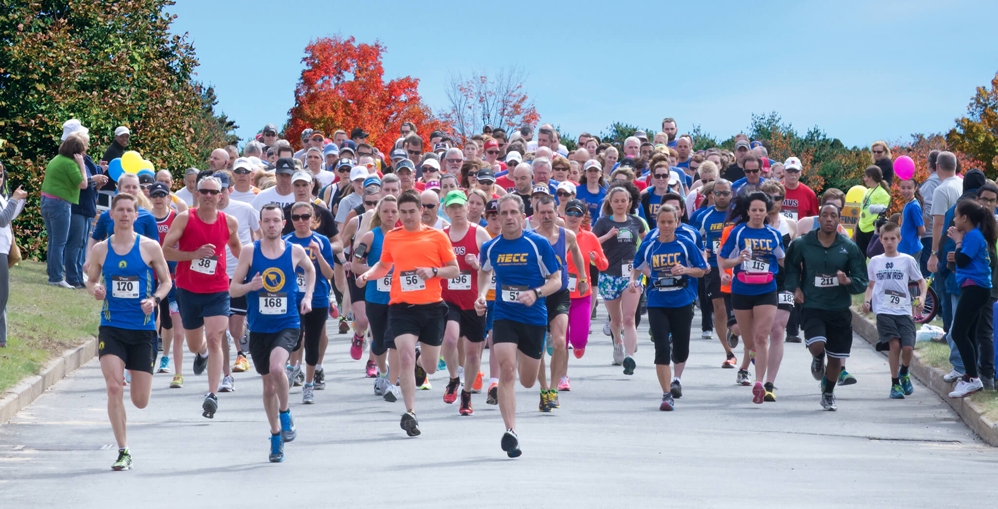 A pack of runners in the Campus Classic