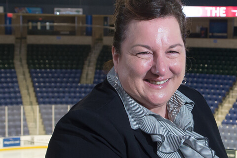 Alumna Patricia Lyon, Assistant to the Deputy Director of Althletics, UMass Lowell