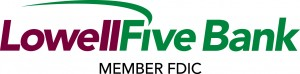 Loweel Five Bank. Member FDIC. logo