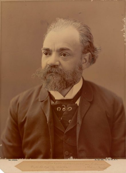 An old sepia photo of one of the composers featured in the concert.