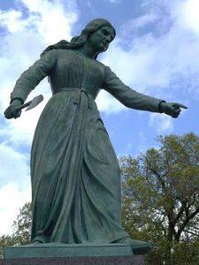 Statue of Hannah Duston in Haverhill, MA