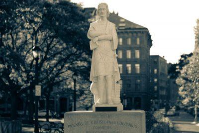 Statue of Christopher Columbus in Boston