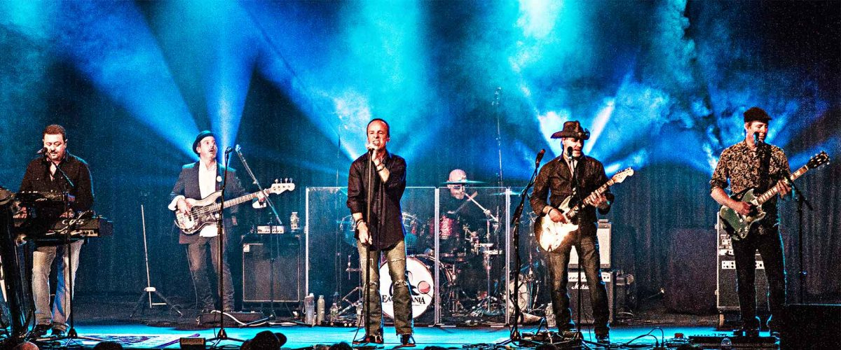The Eaglemania band on stage.