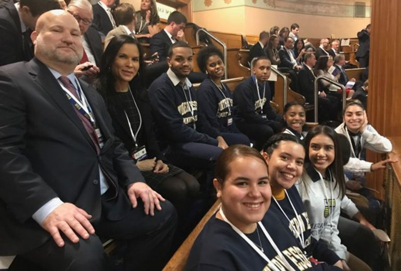 NECC Lawrence Promise Students at the State House