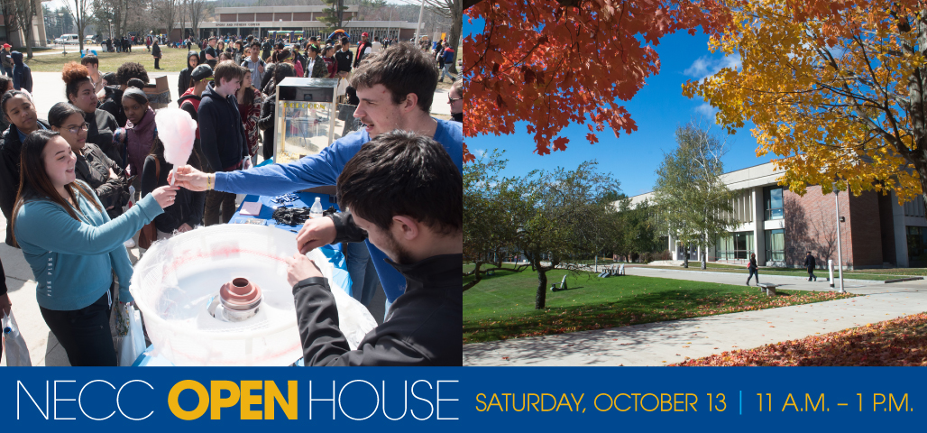 NECC Open House Saturday, October 13, 2018 from 11 am to 1 pm