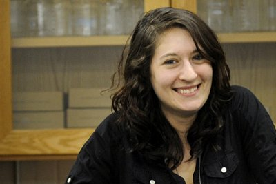 Alumni and Veteran, Nicole Catanzaro, smiles at the camera