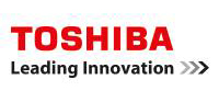 Toshiba logo. Leading Innovation.